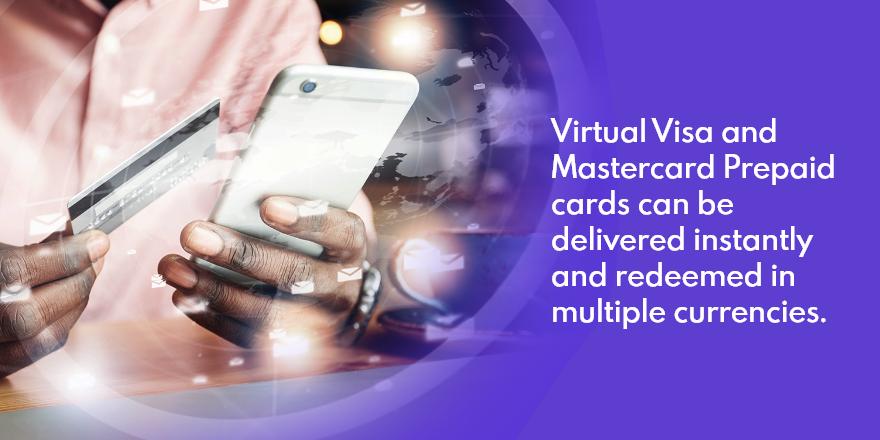 Easily Send International Prepaid Virtual Visa and Mastercard Gift Cards