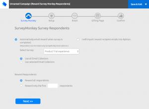 SurveyMonkey Survey Rewards Campaign